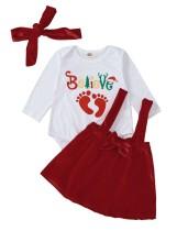 Baby Girl Weihnachten 3PC Rock Set