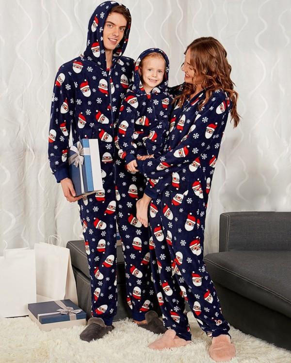 Weihnachtsfamilie Onesie Pyjama für Mama