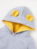 Baby Boy Winter Cartoon Hoodie Strampler