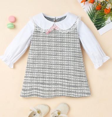 Robe de soirée à carreaux d'automne pour enfants