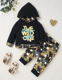 Kids Girl Autumn Print Hoodie Sweatsuit