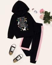 Kinder Mädchen Herbst Print Hoodie Sweatsuit
