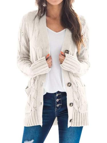 Cappotto maglione tinta unita autunno