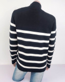 Autumn Stripes O-Neck Regular Sweater