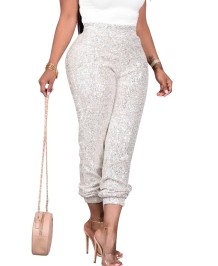 Autumn Party Sequins High Waist Trousers