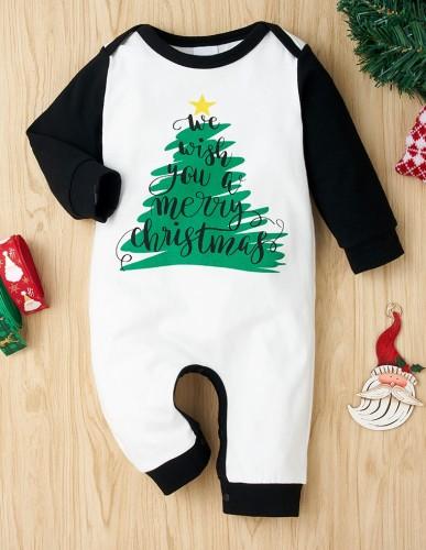 Macacão Baby Boy com estampa de Natal
