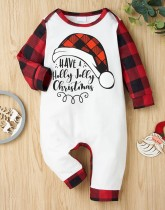 Baby Boy Weihnachtsdruck Button Up Strampler