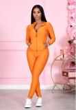Herbst einfarbiger Honeycomb Fitness Zipper Trainingsanzug
