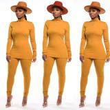 Herbst einfarbiges passendes Hemd und Hosen Lounge Wear