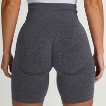 Summer Fitness Pantalones cortos de yoga lisos de cintura alta