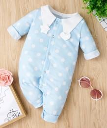 Barboteuse imprimée à pois pour bébé fille
