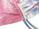 Autumn Tie Dye Hoodie Crop Top und Shorts Set