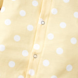 Baby Girl Herbst Polka Dot Print Strampler