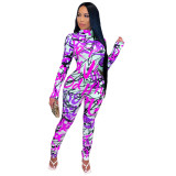 Herbst Party Print Sexy Bodycon Overall