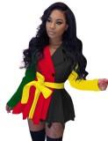 Manteau à basque plissé avec ceinture Winter Africa