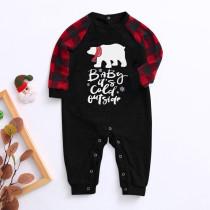 Mameluco de pijama familiar con estampado navideño para bebé