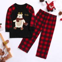 Weihnachtsdruck Familien Pyjama Set für Kinder
