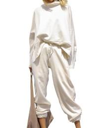 Sonbahar Sokak Stili Günlük Düz Gömlek ve Pantolon Seti