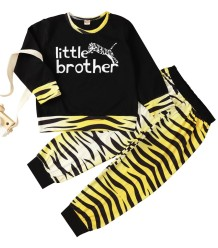Kids Boy Herbst Cartoon Print Shirt und Hosen Set