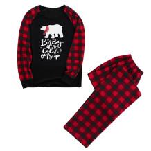Baba için Noel Baskı Aile Pijama Takımı