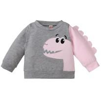 Camisa de desenho animado de outono para bebê