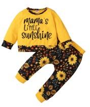 Conjunto de camisa e calça bebê menina outono cartoon