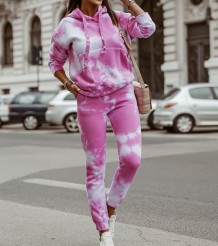 Sweat à capuche Tie Dye Automne Street Style