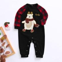 Weihnachtsdruck Familie Pyjama Strampler für Baby