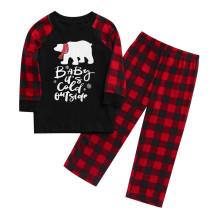 Çocuklar İçin Noel Baskı Aile Pijama Takımı