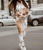 Autumn Street Style Tie Dye Hoody Trainingsanzug