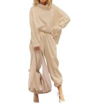 Camicia e pantaloni casual in tinta unita autunno Street Style