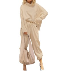 秋のストリートスタイルのカジュアルな無地のシャツとパンツのセット
