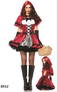 Costume d'Halloween pour Femme Petit Chaperon Rouge