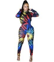Herfstfeest Sexy kleurrijke print jumpsuit