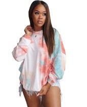 Chemise ample col rond Tie Dye automne