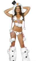 Sexy Kostüm der Weihnachtsfrauen