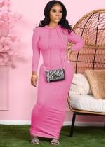 Otoño Casual sólido liso vestido largo con capucha