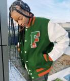 Herbst afrikanischer Button Up Kontrast Jersey Mantel