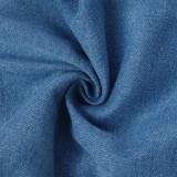 Stilvolle blaue Jeans mit hoher Taille