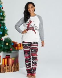 Conjunto de pijama familiar de Natal (mãe)