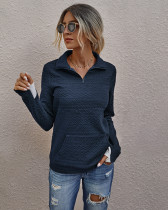Autumn Casual Royal Front Pocket Shirt