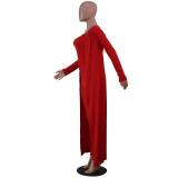 Bodycon Jumpsuit mit Herbstgurten und passenden Strickjacken