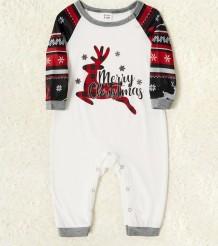 Conjunto de pijama de Natal para a família (bebê)