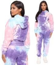 Herbst Tie Dye Hoody Loose Sweatsuit