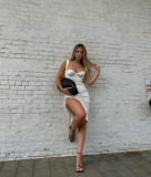 White Party Sexy Push Up Unregelmäßiges Kleid