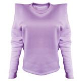 Autumn Solid Plain O-Neck Sweat Shirt