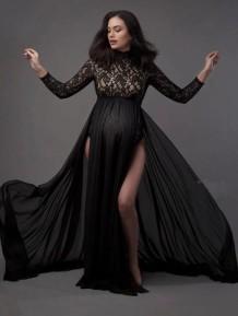 Кружевное платье с верхним разрезом для фотографий Autumn Pregenant Photography
