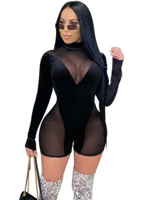 Autumn Party Black Sexy See Through Bodycon Pagliaccetti
