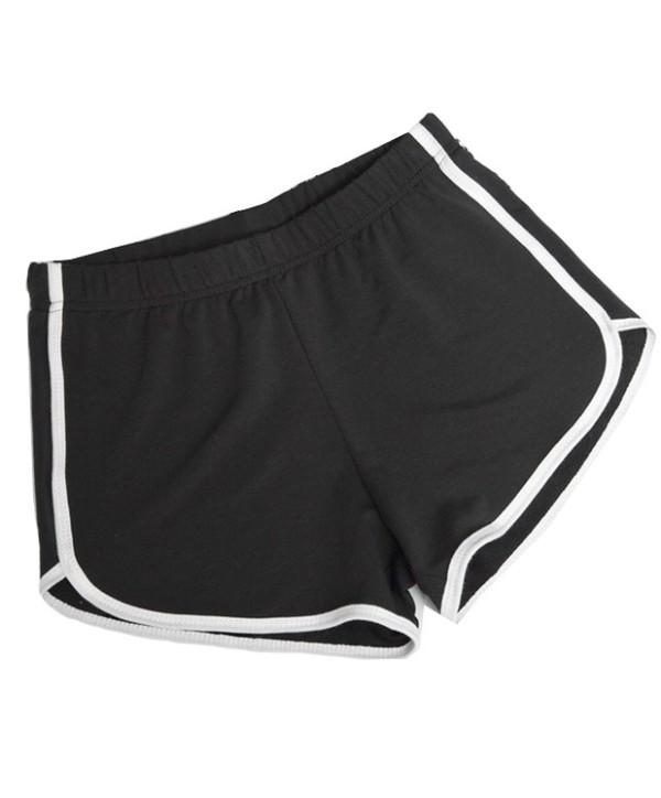 Sommersport Jogging Baumwollshorts mit Kontrastbesatz