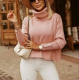 Winter Solid Plain Rollkragenpullover Loose Sweater